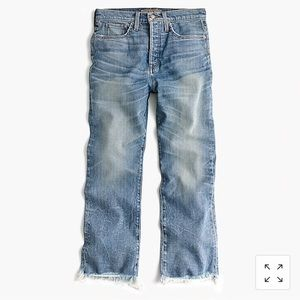 J Crew Point Sur Relaxed Cropped Bootcut Jean